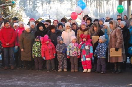 На открытии детского сада